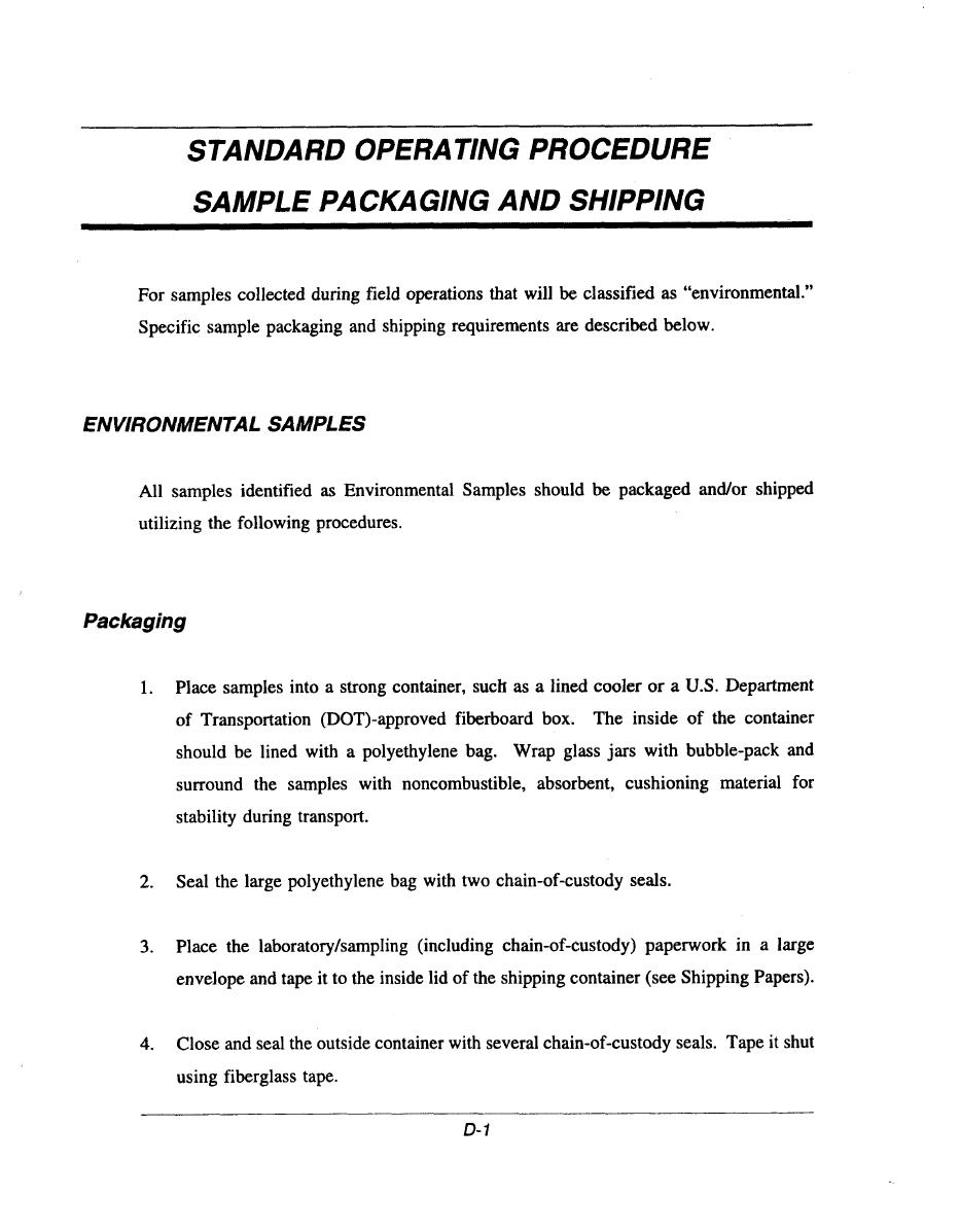 Integrated Publishing  Free Standard Operating Procedure Template Word